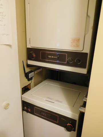 Small washer dryer in the condo.  All detergents are supplied during your stay.