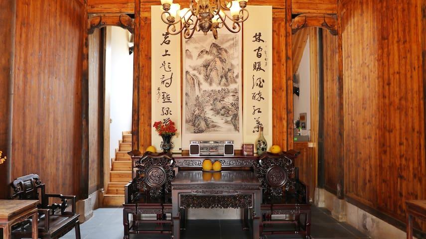 静如会所(丰乐草堂二号院)-丁香房(含双早)-黄山西溪南古村落