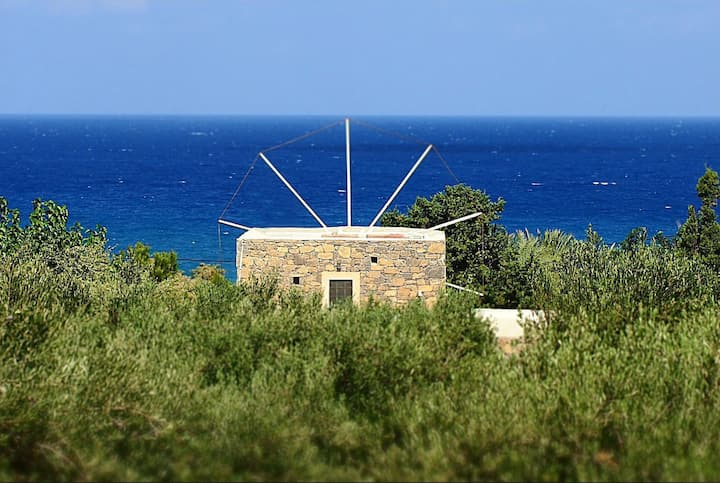 [UNIQUE] Authentic Cretan Stone Windmill - AC - WIFI - SAT TV