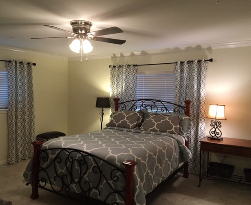 Spacious Master Bedroom with private bathroon