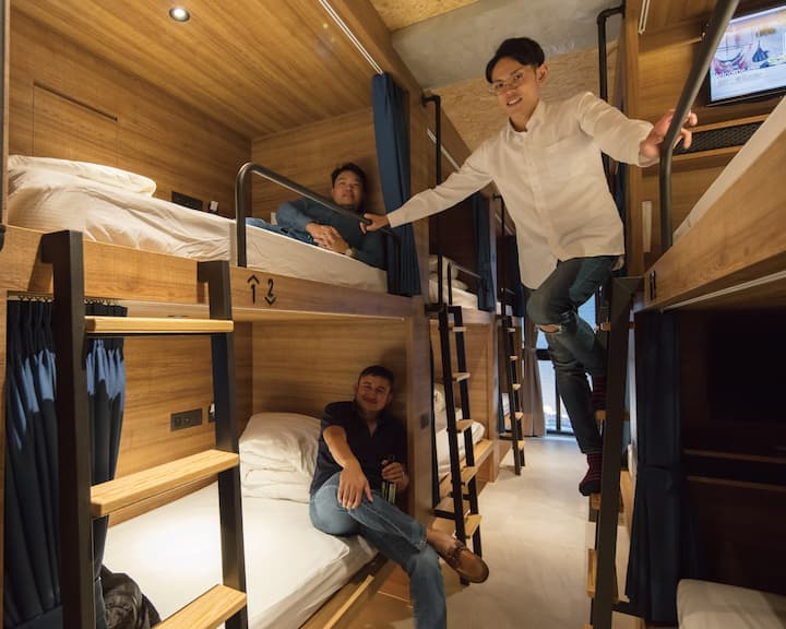Single Bunk Bed in Boy Dormitory Room