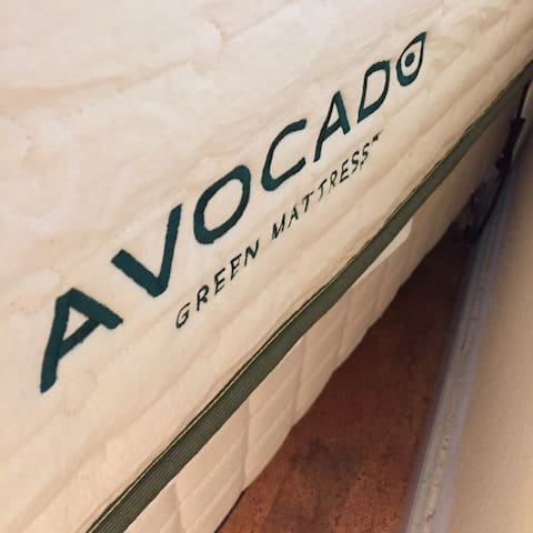 Organic Avocado Green mattress chemical free! Check their website.