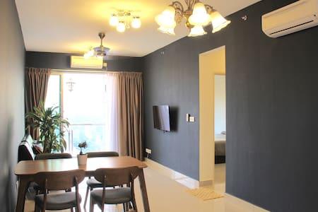My Blue Home 1+1 BR @Austin Suites - Johor Bahru - Apartamento