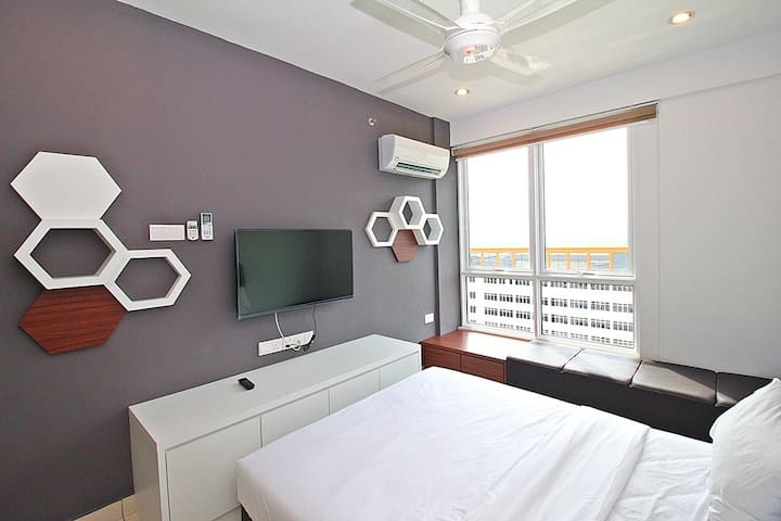 IV)FAMILY SUITE WITH 2 BEDS_GEORGETOWN@市区套房 - George Town - Apto. en complejo residencial