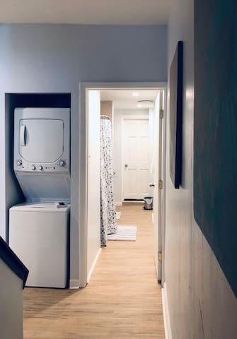 Bathroom hall and washer/dryer