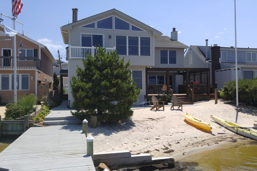 Back deck and beach