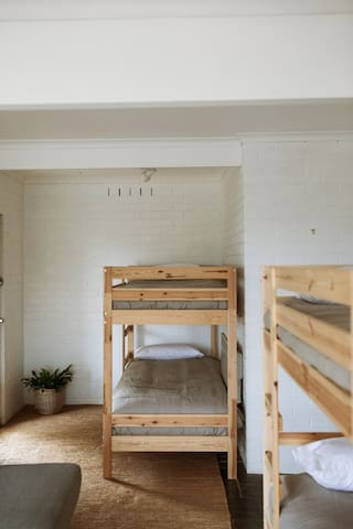 Bedroom 4: downstairs, 2 x bunk beds and living