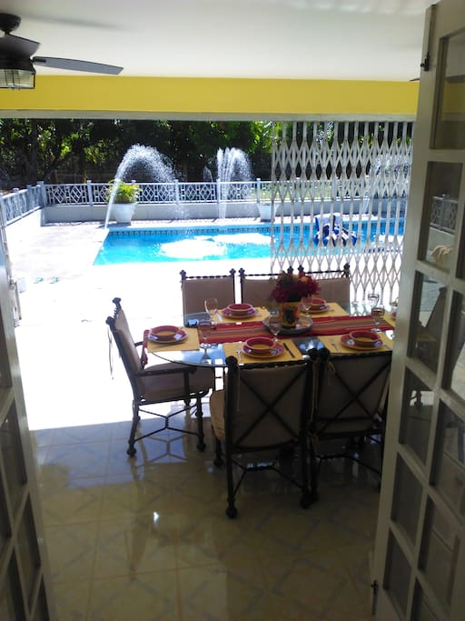 Dining Area / Pool Access