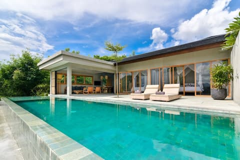 Private Pool villa overlooking the national park
