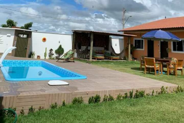 Casa de praia com piscina/churrasqueira temporada