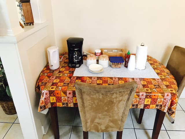 Dining table # Coffee # Tazo Tea Selection#
