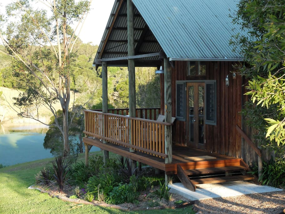 Exterior of lagoon view cabin