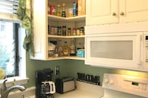 I try to keep the kitchen cabinets stocked for your convenience!