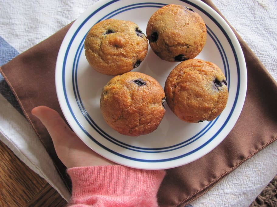 Freshly baked organic muffins are not an uncommon occurrence around here!