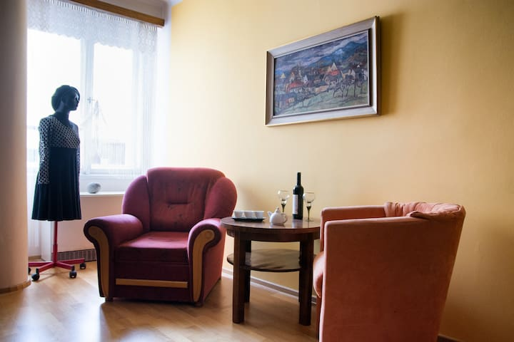 Cosy flat with atmosphere. Breakfast included.