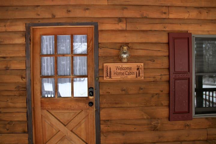 Front door with code key.