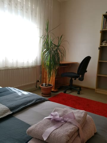 Centrally located bright room