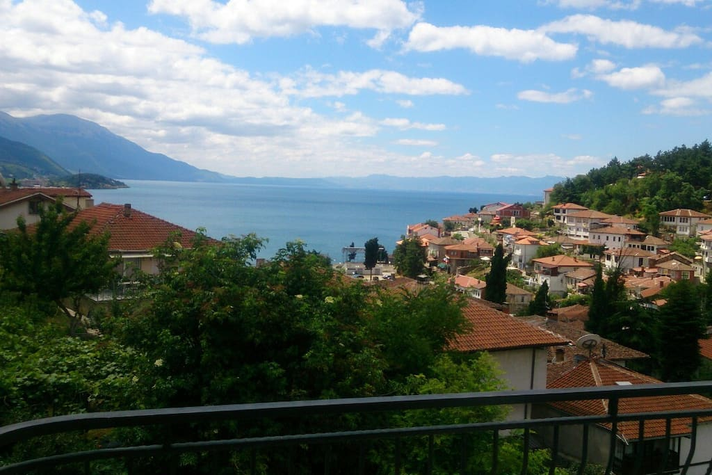 View of Ohrid Lake and old town from the apartment