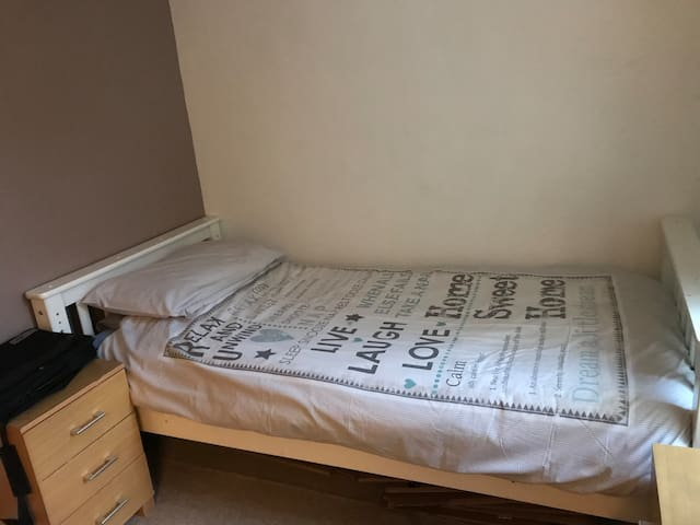 Room 2 - Airbnb house in Horwich with single bed.