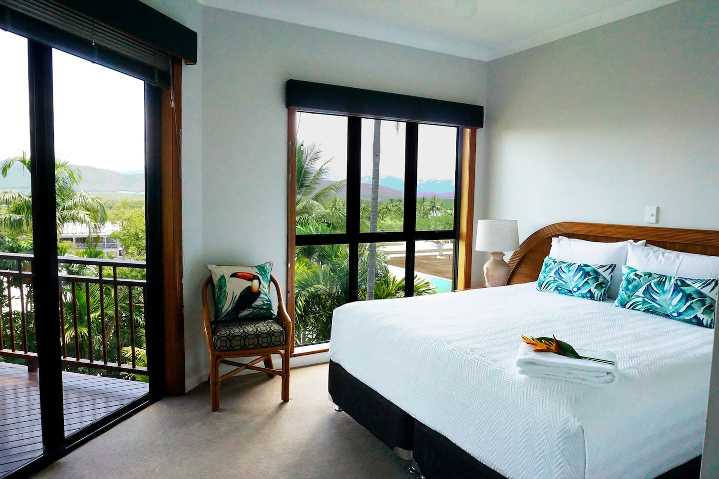 Master Bedroom. Enjoy Elevated Views in the Heart of Port Douglas