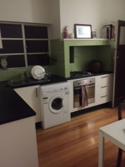 Kitchen with all washing and cooking appliances