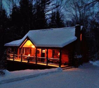Auskerada Lodge. Seclusion&Jacuzzi - Caroga Lake - Kisház