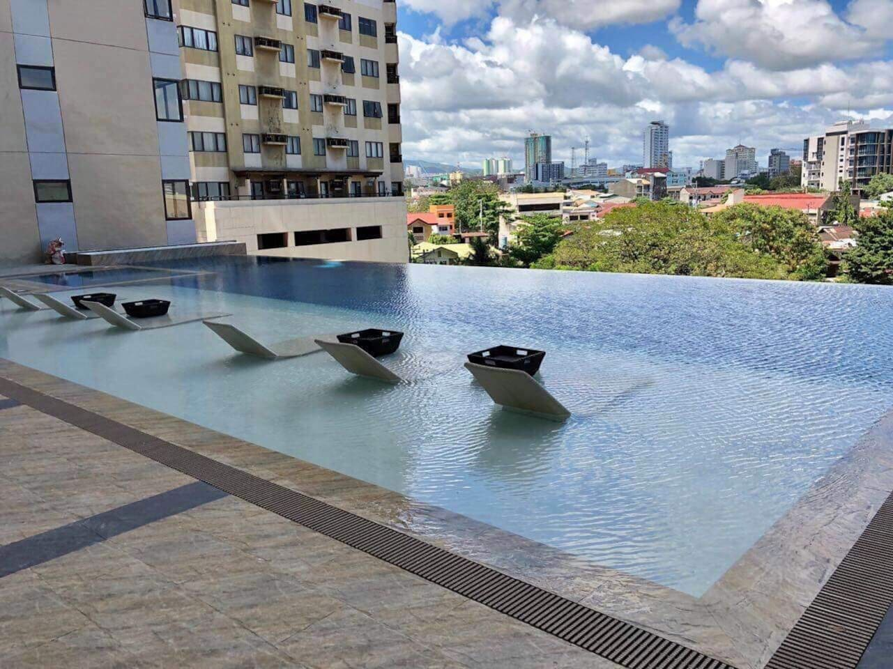 Infinity pool at the 6th floor where you can relax and enjoy a breathtaking view of the city