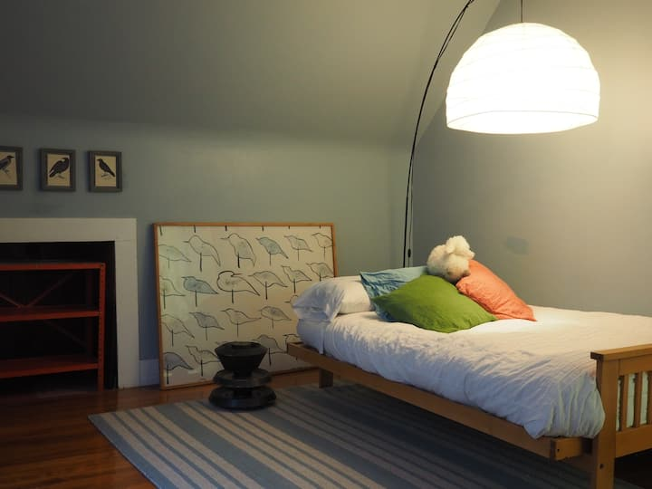 Cozy 3rd Floor Room in Cool Vintage Flat with Dog!