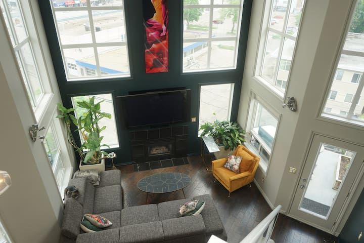 1 bed mid century modern Exec Penthouse downtown
