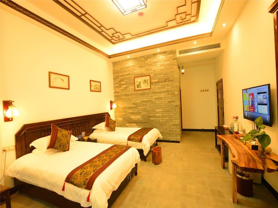 翠竹居山景双床房