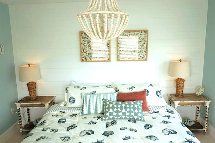 Elegant master bedroom with brand new King Sized Bed!