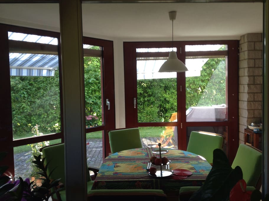 You'll also have access to the sun room (winter garden) and the patio for meals and relaxing.