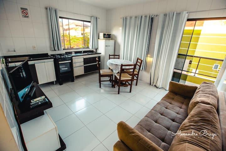 Apartamento completo 150m da praia Enseada SFS/SC