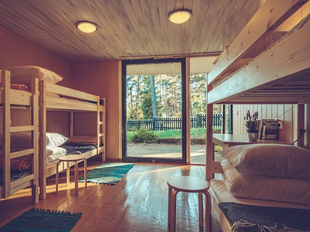 Summerhouse Kastytis: a bed in 6-bed dormitory