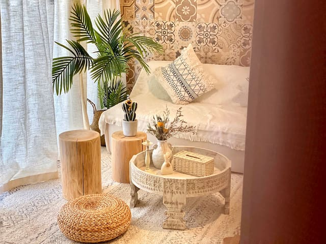 XY·Apartment摩洛哥一房一厅•南山地铁站·临近海岸城 深圳湾万象城等·可做饭·投影仪·实拍