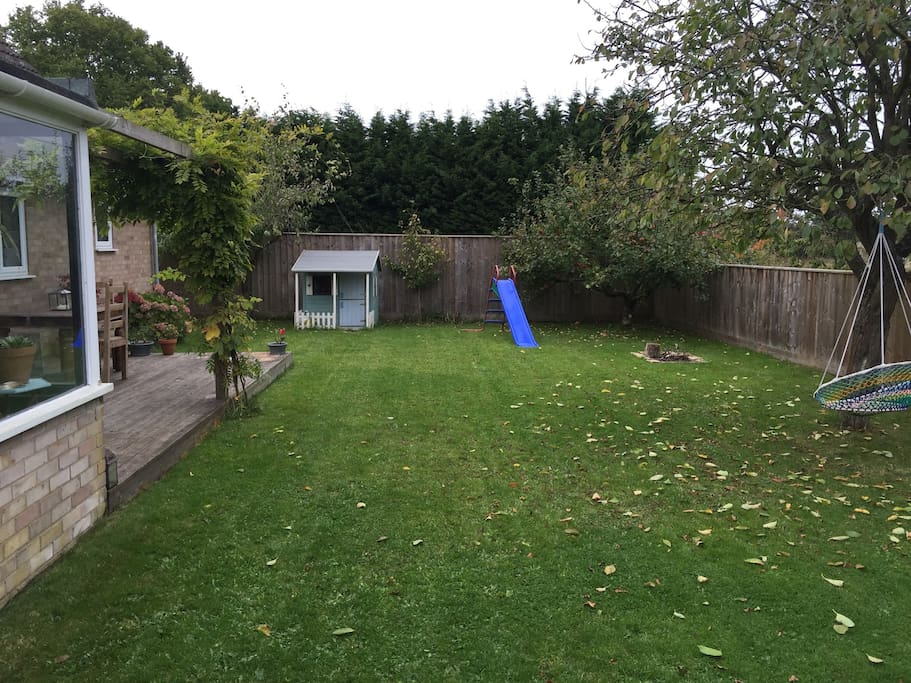 Kid Friendly Garden, with outdoor eating area.