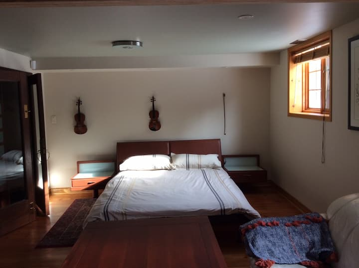 Modern studio 5 min to airport - separate entrance