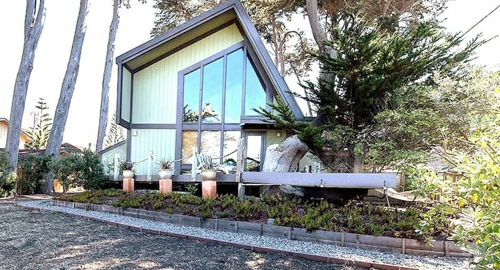Ocean-front 3+2 Retreat in Moss Beach - VIEWS!
