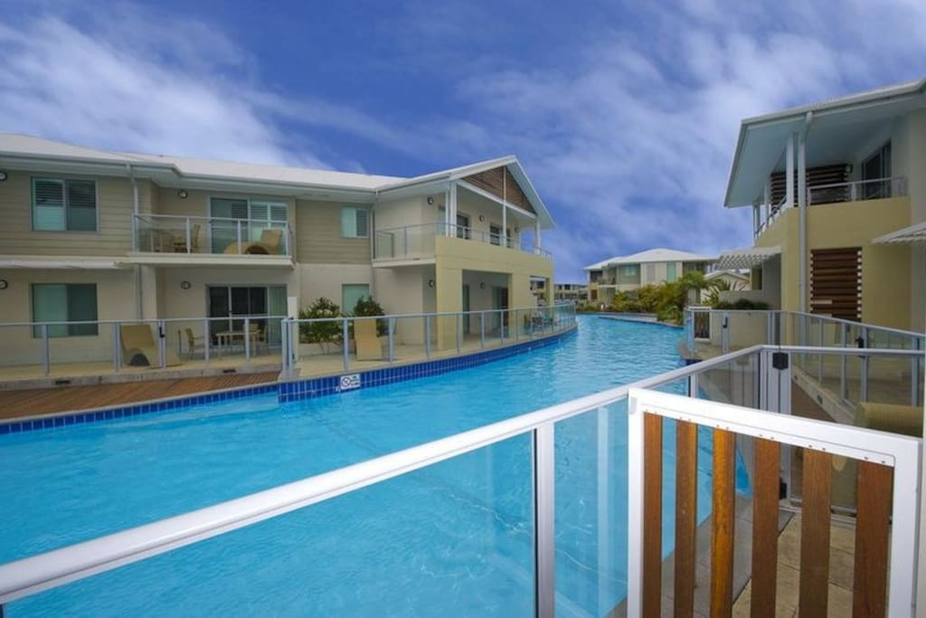 Two story swim-out apartment