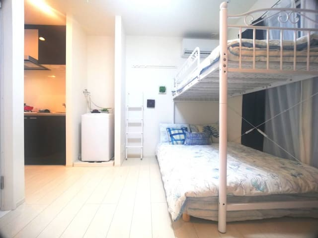 New modern cozy room Central TKY, free WIFI