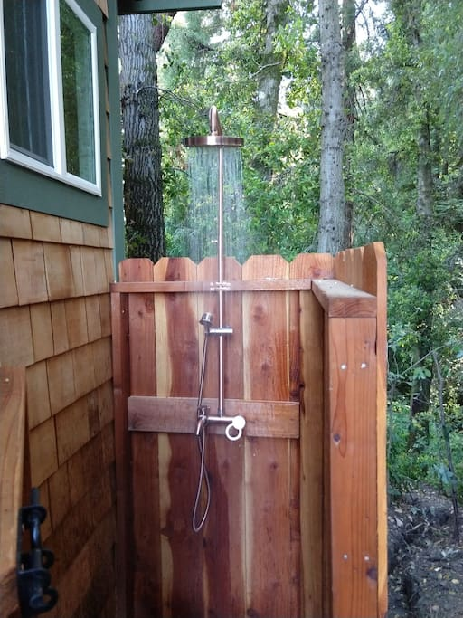 Outdoor hot/cold shower - directly attached to La Casita