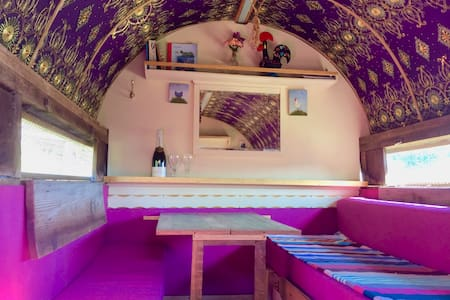 Cluckingham Palace, vintage chicken house