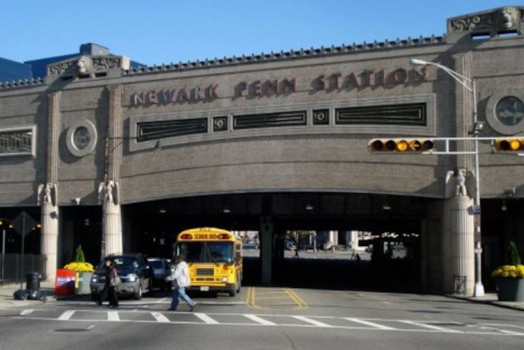 Less than a mile walk to the train station. Walk or take local taxis. NYC is 15mins away by train.