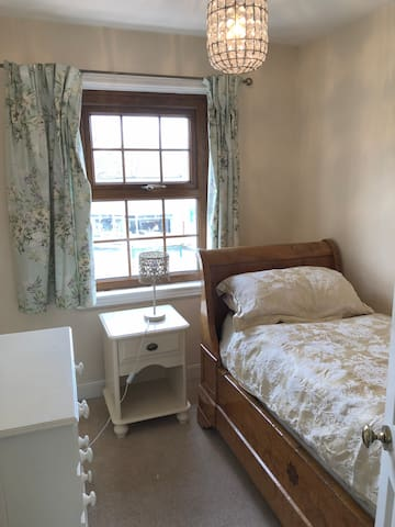 This is a small room, but there is a living room which you can have exclusive use of