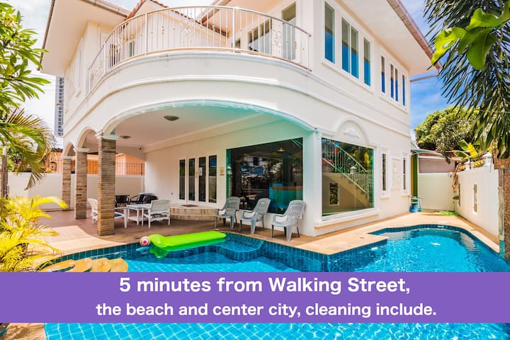 Villa T4 bedroom near Walking Street & beach ★★★★★