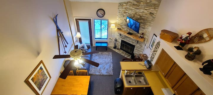 Outstanding Loft Ski Unit with Fireplace