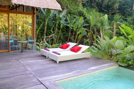Luxurious villa, rice-fields, Stairway to heaven - Ubud