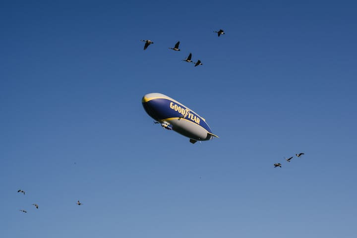 A Touchdown Stay in the Goodyear Blimp