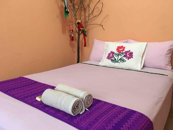 confortable habitación c/clima, centro de Palenque