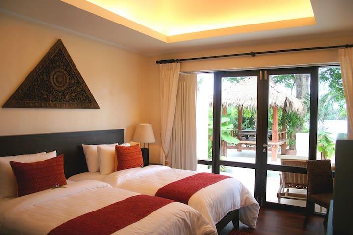 320 Sqm-TwoBedrooms Pool Villa Garden+Breakfast
